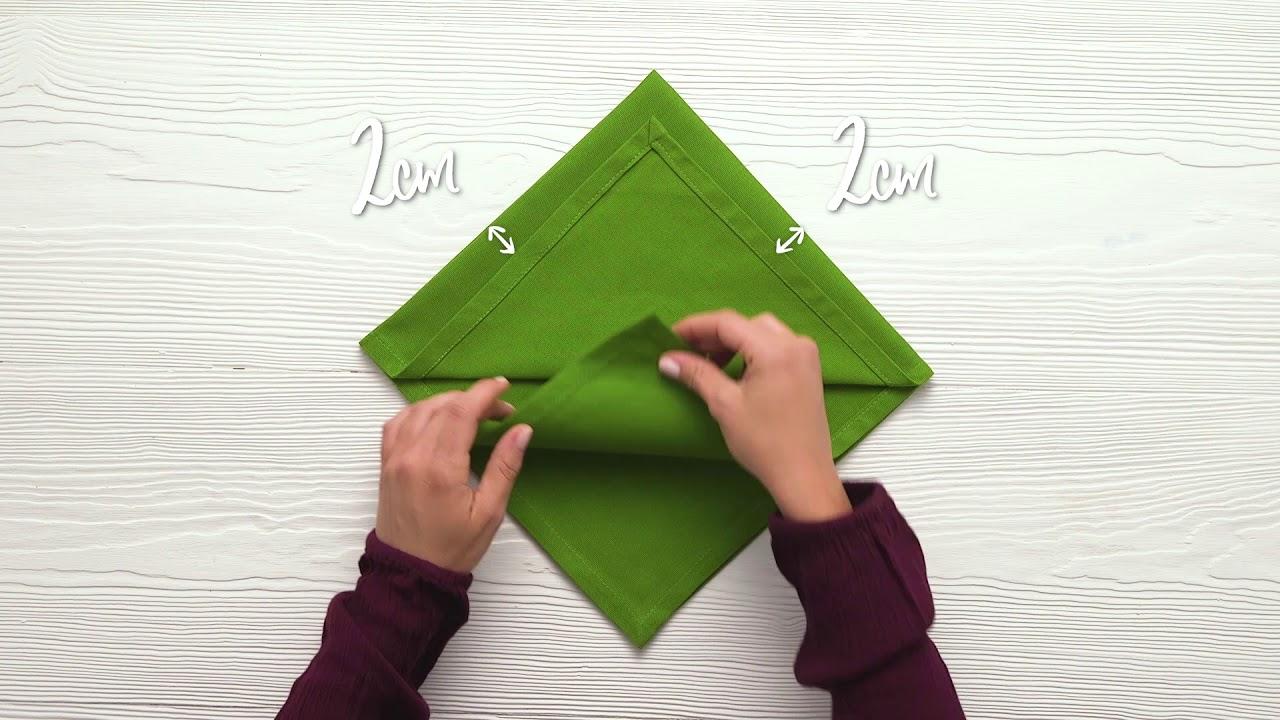 how to fold a napkin into a christmas tree