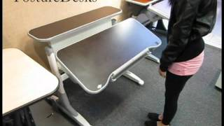 Th-333 Height And Tilt Adjustable Desk