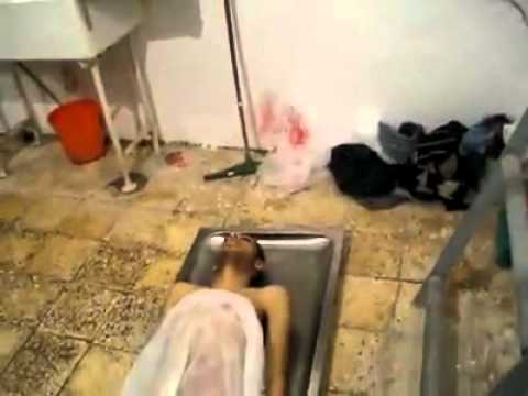 More footage of killed protesters in a hospital morgue in Al Bay