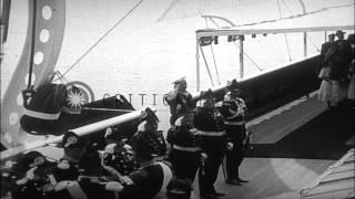 Kaiser Wilhelm II and Czar Nicholas II meet at a Baltic Seaport. HD Stock Footage