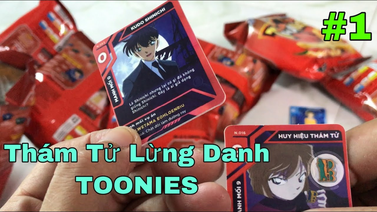 Bóc Bánh Toonies Phiên Bản Thám Tử Lừng Danh Conan | Giới Thiệu Sơ Qua Về Các Loại Thẻ Và Quà Tặng