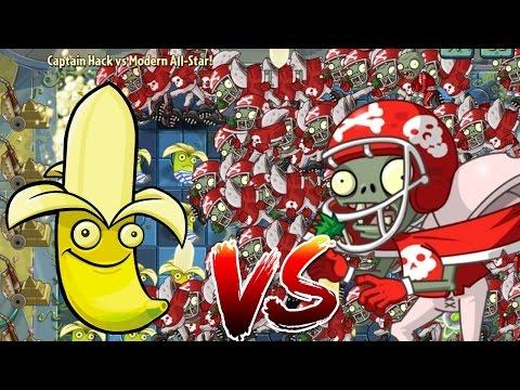 Plants vs Zombies 2 Epic Hack : Banana Launcher vs All-Star Zombies