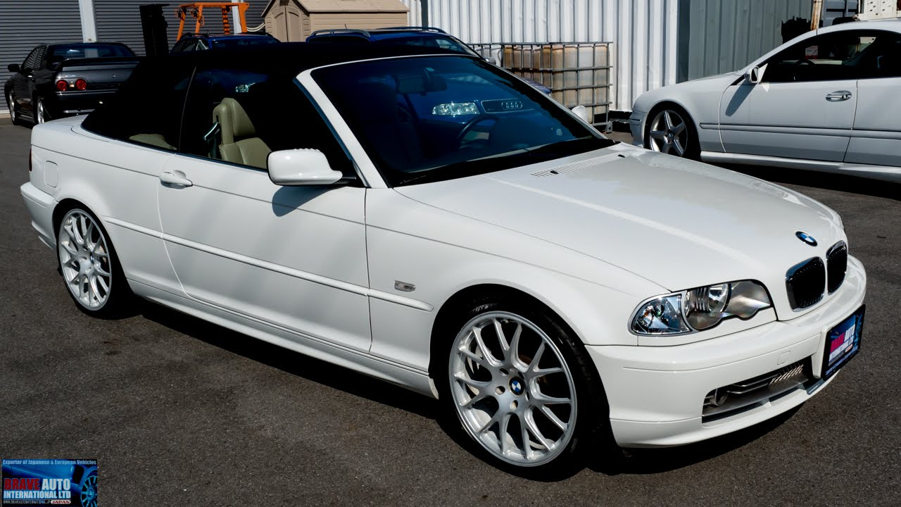 walk around 2001 bmw e46 330i convertible japanese car auction youtube. Black Bedroom Furniture Sets. Home Design Ideas