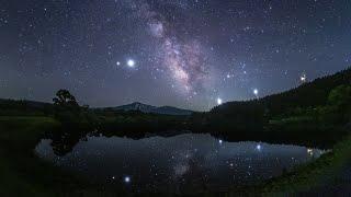 天文ガイド2021年9月号 冬師の夏空~リフレクションのある星空風景