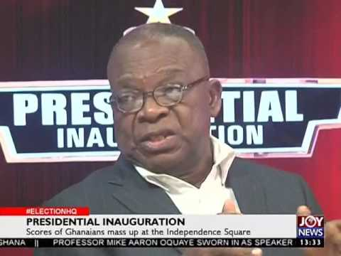AKufo Addo is President of Ghana - Election HQ on Joy News (7-1-17)