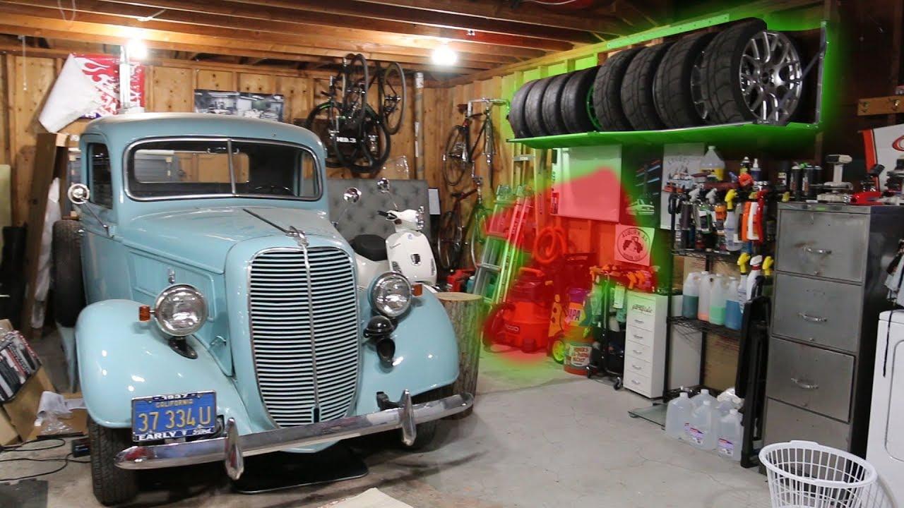 tire racks for the garage