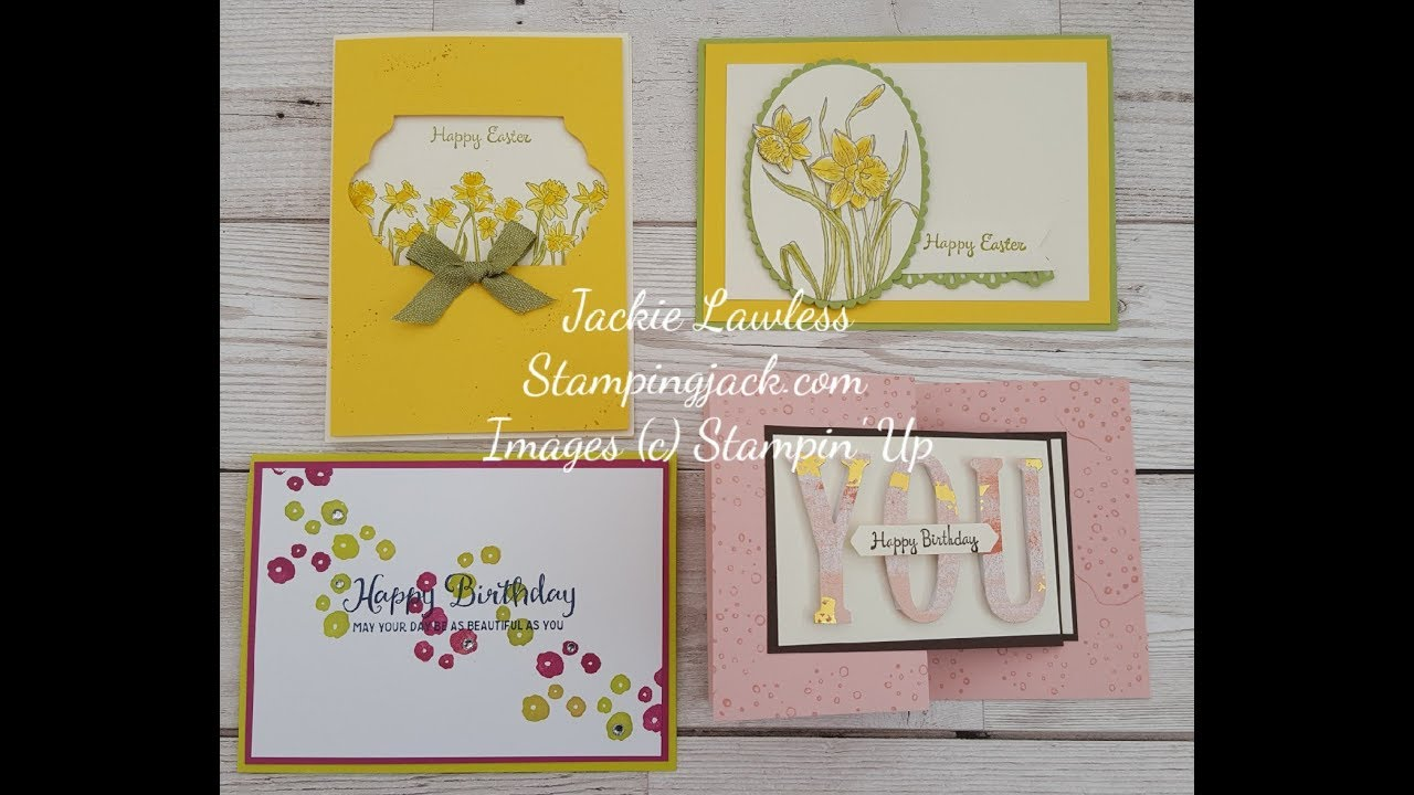 Some Fun Spring Cards Facebook Live 12th March Youtube