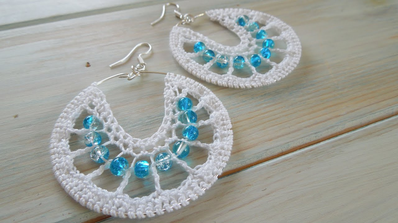 Crochet How To Crochet Earrings Version 1 Youtube
