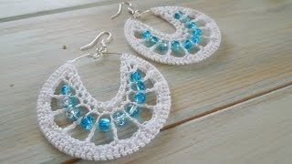 (crochet) How To Crochet Earrings version 1