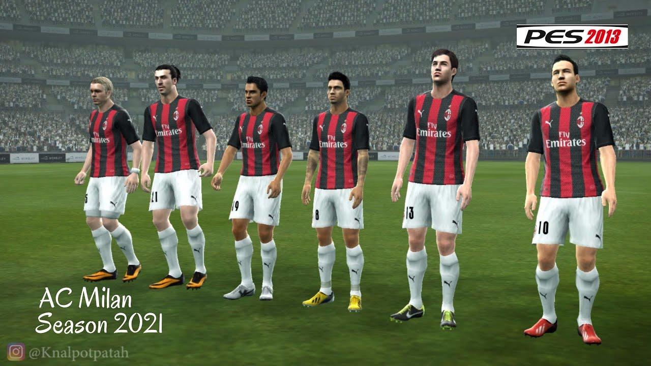 Ac Milan New Kits Season 2021 Pes 13 Youtube