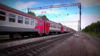 Электропоезд ЭД9М-0054 сообщением Ижевск - Кизнер - Вятские Поляны