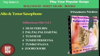 Saxophone sheet music books of Bollywood Millennium Hits v 3 PDF