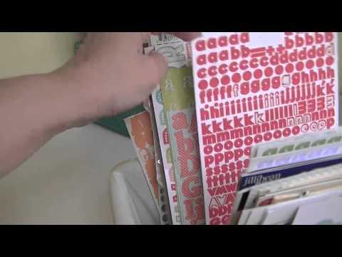 Scraproom Sunday: Letter Sticker Storage