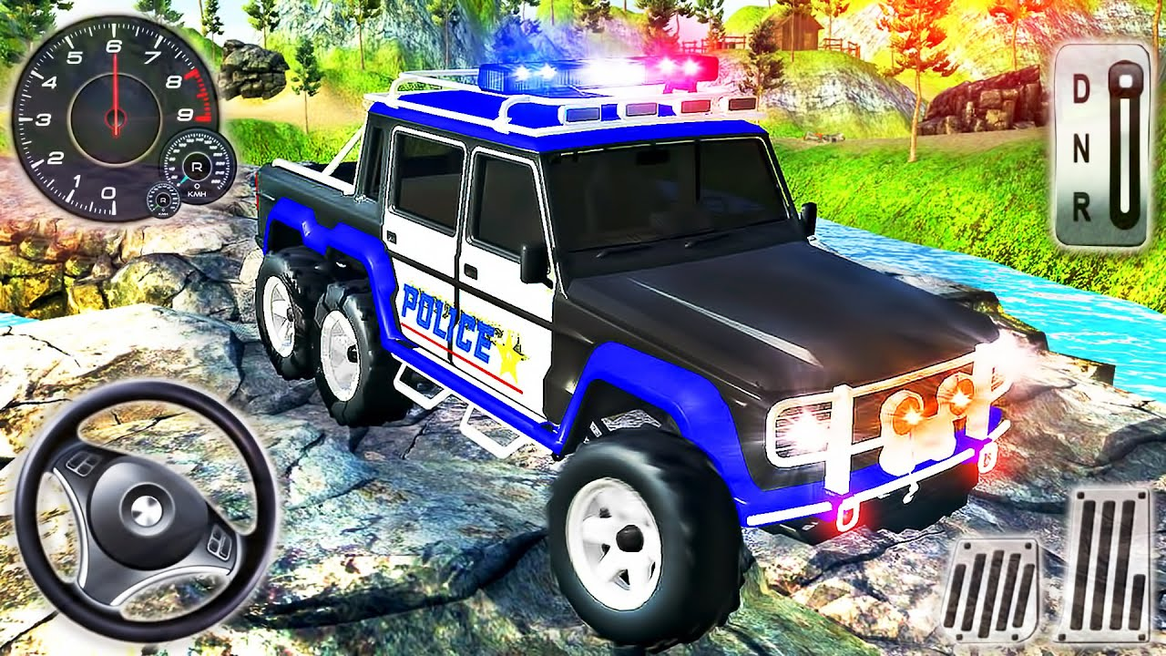 Police Jeep Driving Simulator 2020 - Prado Car 4x4 SUV Mountain Driver - Android GamePlay