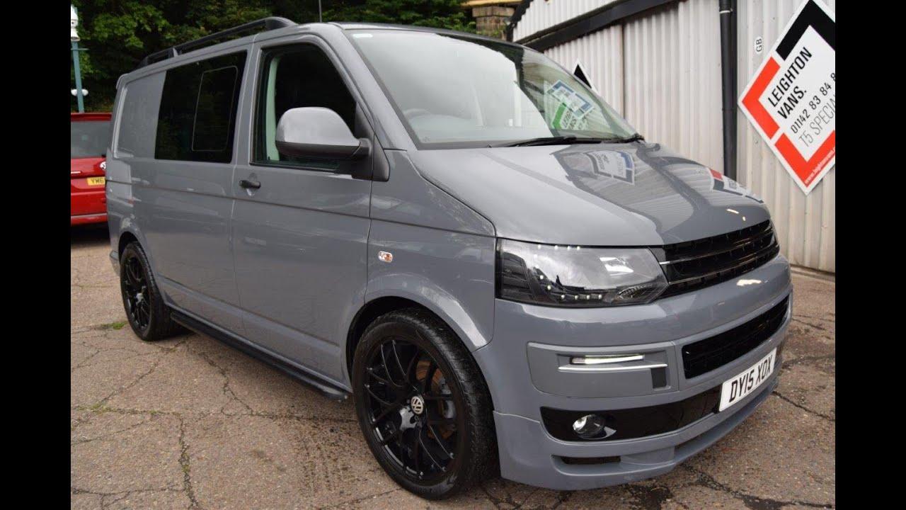 2015 vw t5 2 0 160ps pure grey kombi sportline pack sat nav reverse cam for sale leighton vans