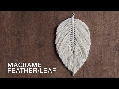 DIY How To Make A Large Macrame Feather/Leaf