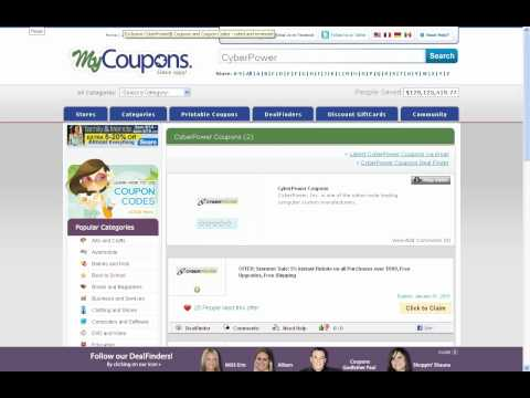 How To Use Cyber Power Coupon Codes - YouTube
