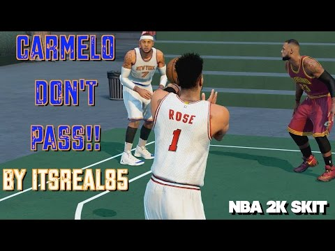 CARMELO DON'T PASS: Welcome to NY D.Rose (NBA 2K16 SKIT)