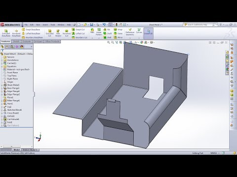 Solidworks Elbows 90 To Sheet Metal Doovi
