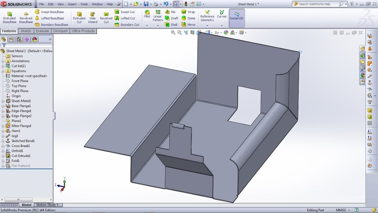Solidworks Sheet Metal Tutorial For Beginner 1 Base