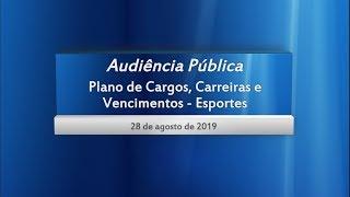 Audiência Pública sobre o PCCV - Área de Esportes