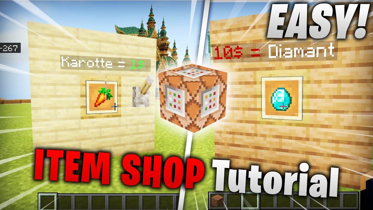Item Shop Command Block Befehl Tutorial  / PS4 / MCPE / Bedrock / Xbox / Switch  / Windows 10