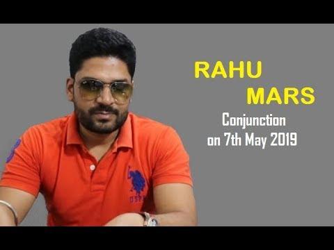 RAHU - MARS Conjunction on 7th May 2019 || Angaarak Yoga (अंगारक योग)