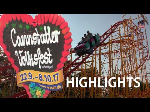 172. Cannstatter Volksfest 2017 Wasen Stuttgart HIGHLIGHTS 4K Best of...amusement rides + beer tents