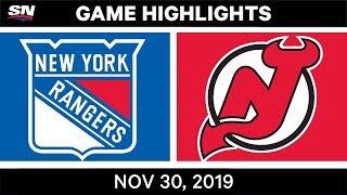 NHL Highlights   Rangers vs. Devils – Nov. 30, 2019