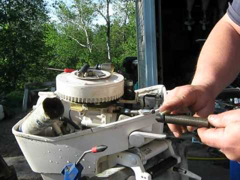 Chrysler and Sea King 99-15hp outboard motor recoil repair how to