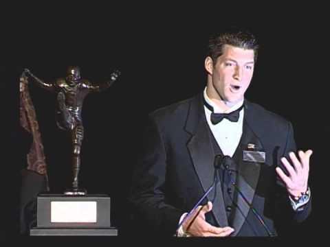 2009 Campbell Trophy Winner Tim Tebow (Florida) - Acceptance Speech