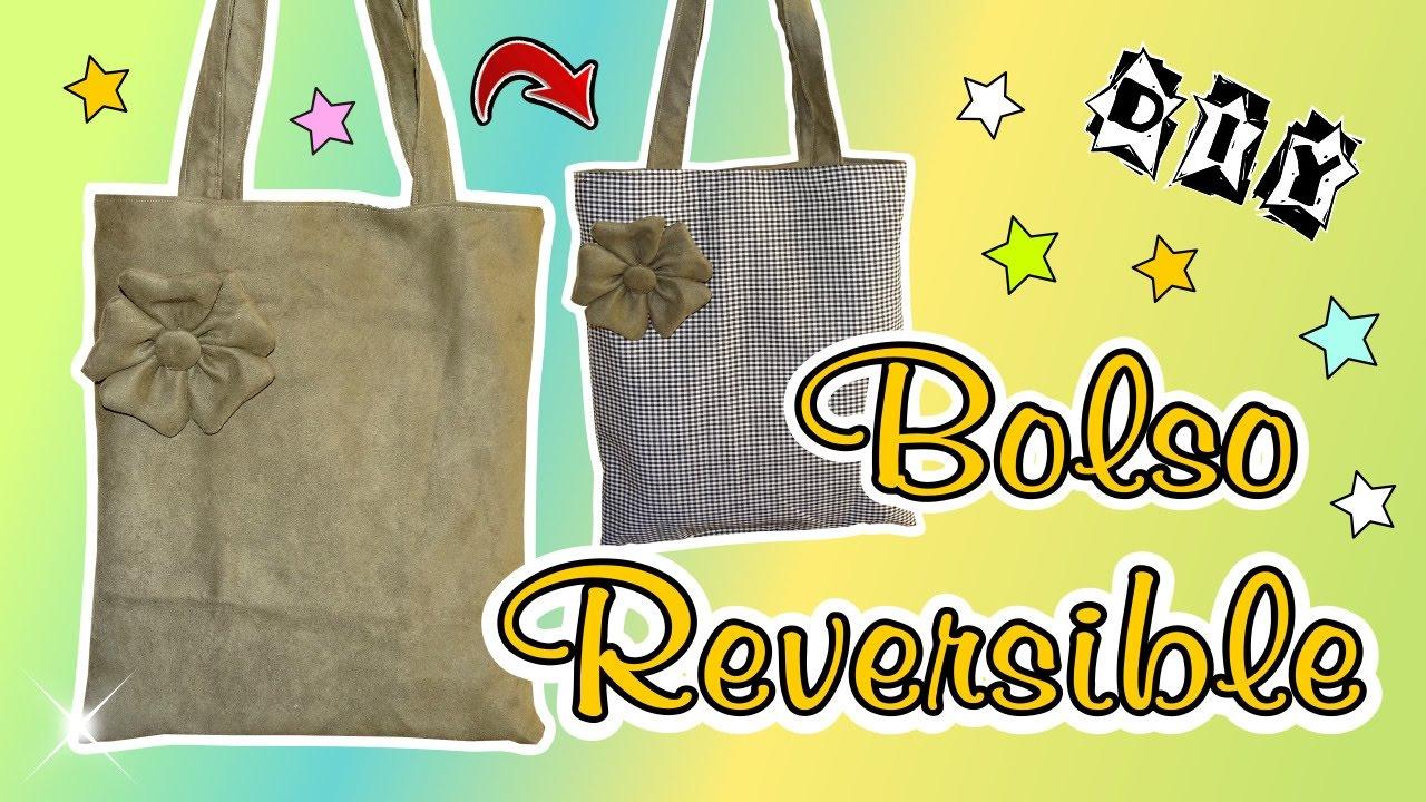 8564baae1 DIY Como hacer un bolso tote reversible con Flor de tela en 3d muy facil -  YouTube