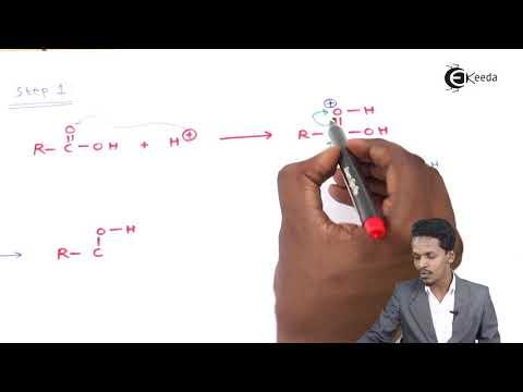 Mechanism Of Esterification Reaction - Aldehydes, Ketones And Carboxylic Acids - Chemistry Class 122