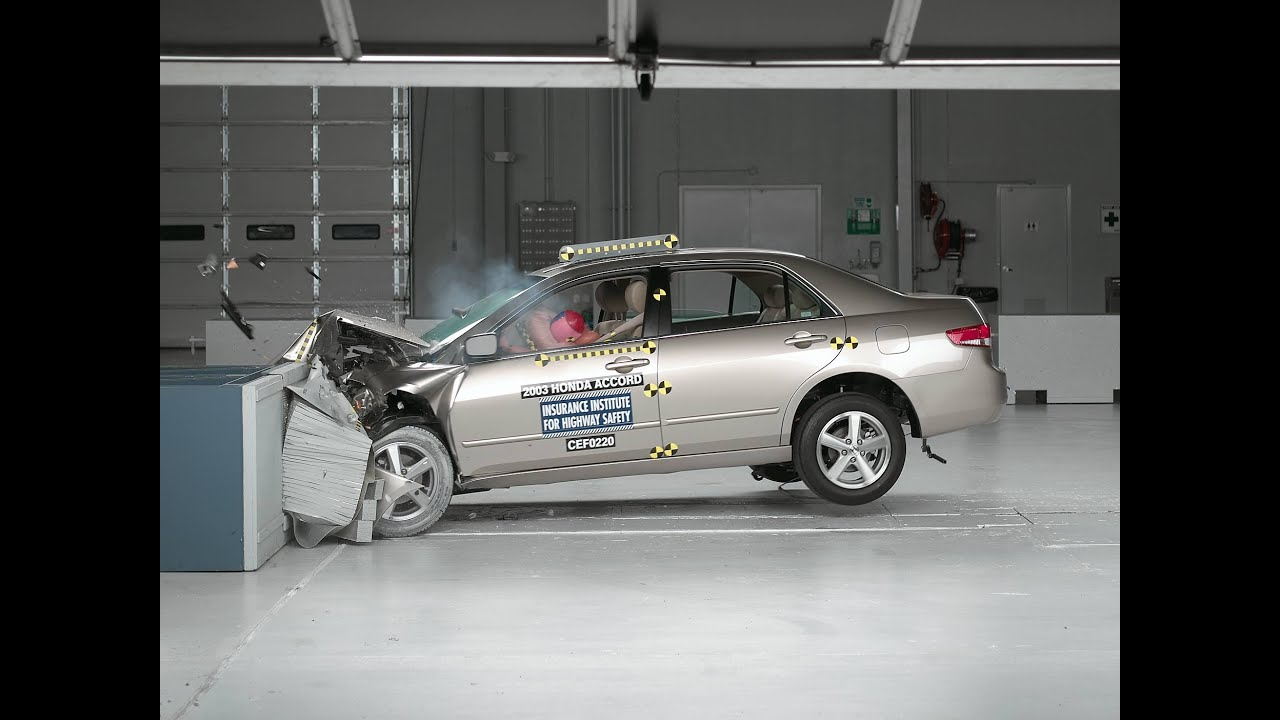 2003 Honda Accord Moderate Overlap Iihs Crash Test