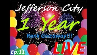 Jefferson city Roleplay 1 year anniversary party [LIVE STREAM] ROBLOX
