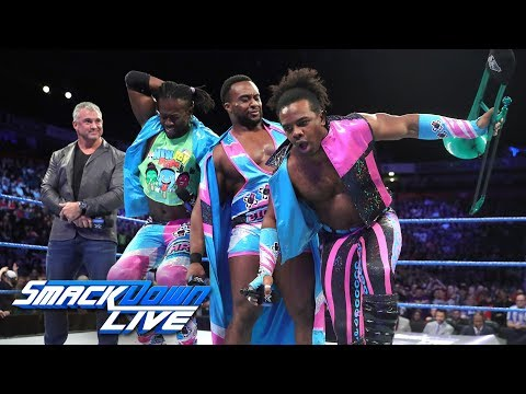 Shane McMahon congratulates The New Day on their Raw raid: SmackDown LIVE, Nov. 7, 2017