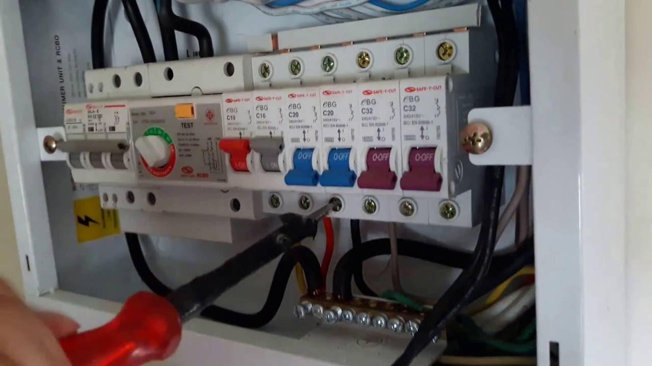 แนวทางการต่อสายไฟฟ้า220vac ตู้consumer Unit Safe T Cut แบบ