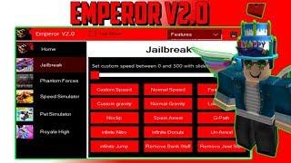 {ESP} Jailbreak Roblox Exploit - *Emperor V2 *Auto Arrest,Noclip, Esp, Btools,+ More! (2018)