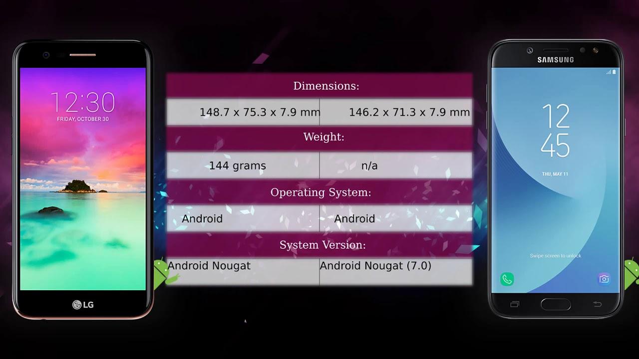 Lg K10 2017 Vs Samsung Galaxy J5 2017 Phone Comparison Youtube