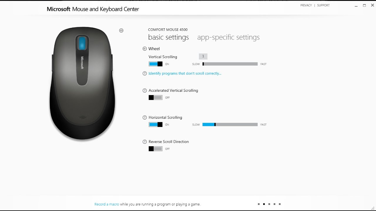my mouse scroll up and down automatically, fix automatically with an  application