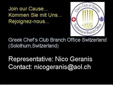 'Hellas Radio' feat.Nico Geranis with Greek Chef's Club Branch Office in Switzerland