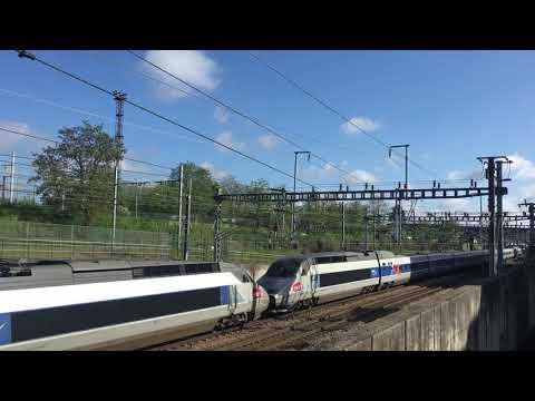 TGV Atlantique Lacroix 24157/24065 En Provenance De Brest Quimper Vers Paris Montparnasse