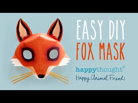 Free DIY Fox Mask template and tutorial: Make your own 3D red fox paper mask in no time!