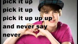 justin bieber never say never with lyrics
