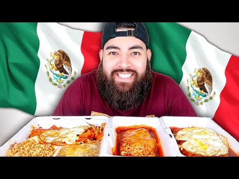 AUTHENTIC MEXICAN FOOD MUKBANG ENCHILADAS + CHILAQUILES + CHILES RELLENOS 먹방 EATING SHOW!