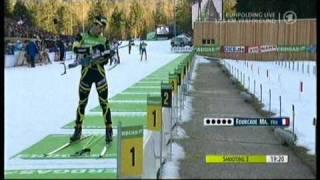 Biathlon Verfolgung der Männer in Ruhpolding 2011