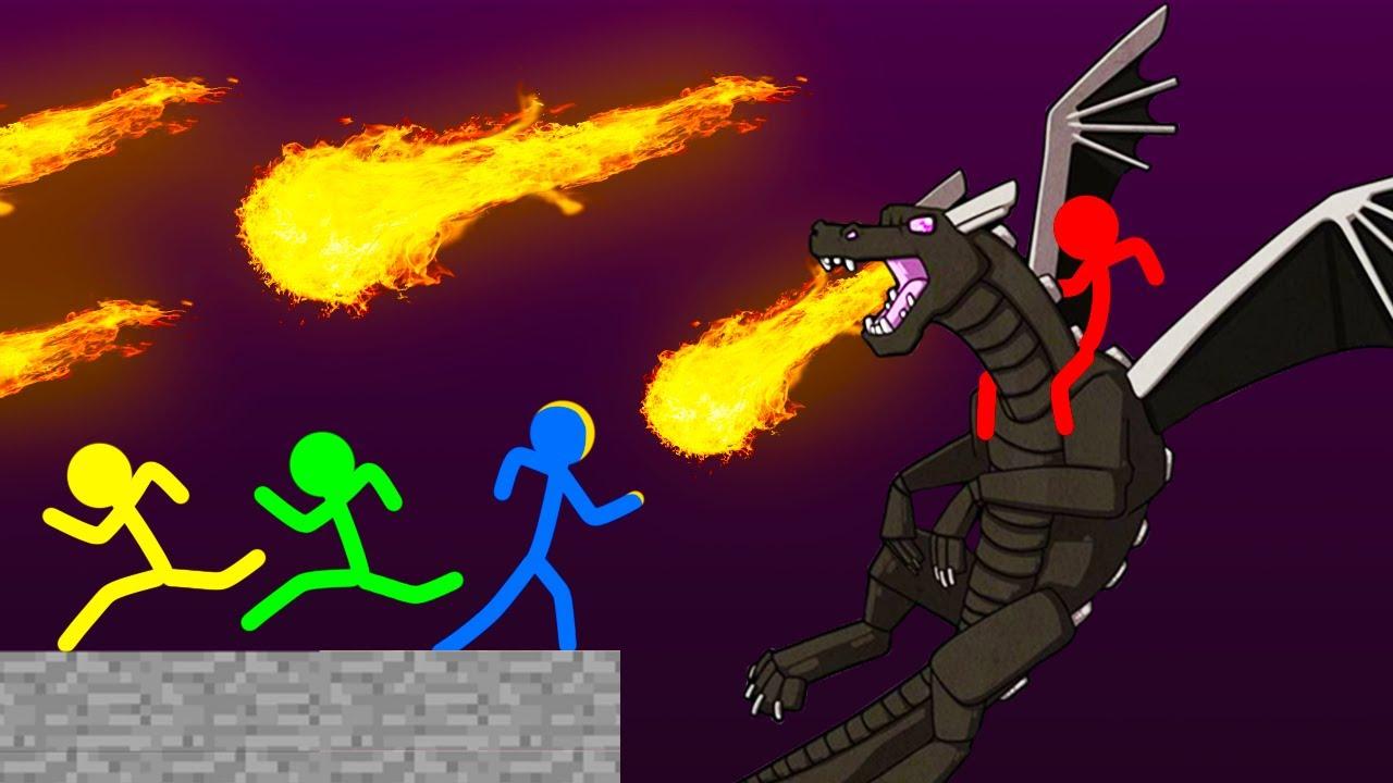Stickman VS Minecraft: Dragon Battle - AVM Shorts Animation