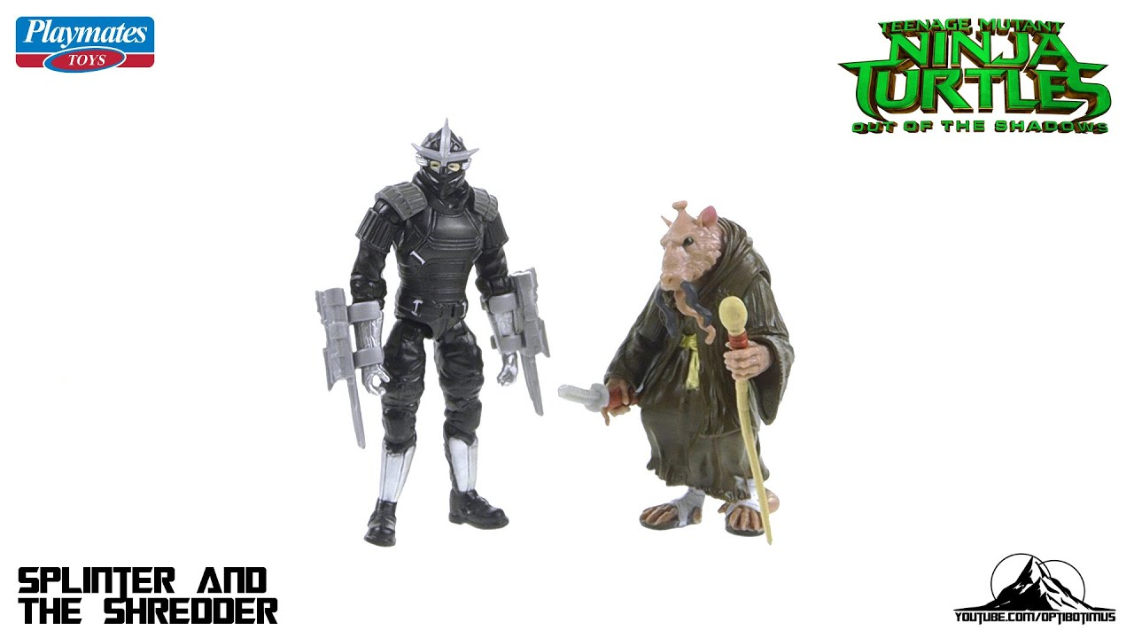 Teenage Mutant Ninja Turtles Out Of The Shadows Shredder And Splinter Video Review Youtube