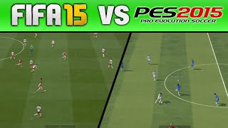 FIFA 15 VS PES 2015 | GAMEPLAY & GRAPHICS COMPARISON (1080P)