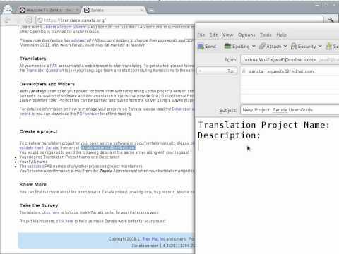 Zanata: Request a Project